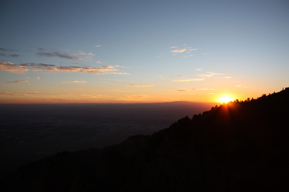 view from sandia mountains